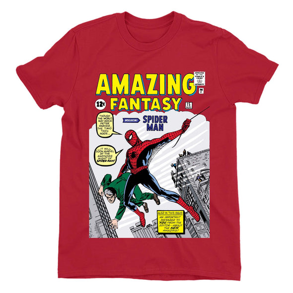 Spiderman Amazing Fantasy Comic Book Men's Red T-Shirt