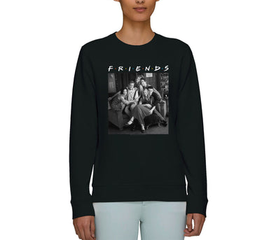 Friends Central Perk Sofa Group Picture Adults Unisex Black Sweatshirt