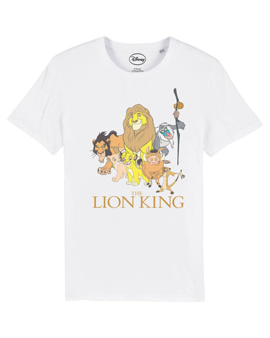 The Lion King Group Photo Children's Unisex White T-Shirt