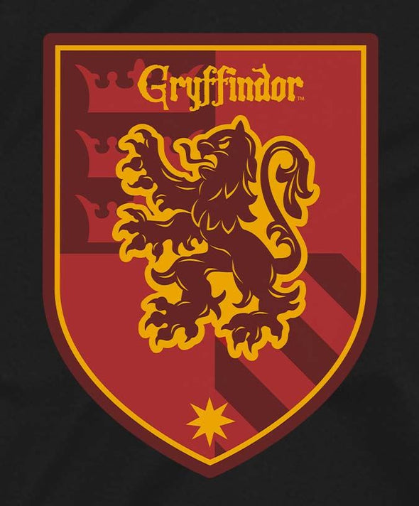 Harry Potter Gryffindor Red Crest Ladies Black T-Shirt