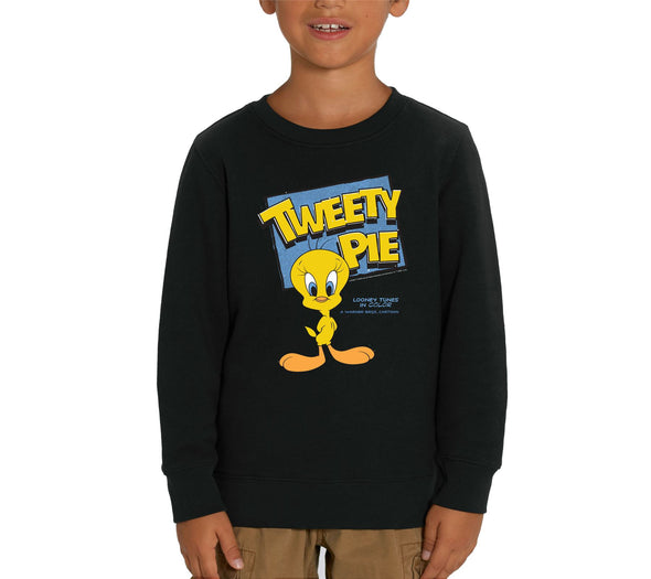 Looney Tunes Tweety Pie Children's Unisex Black Sweatshirt