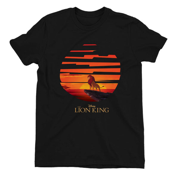 The Lion King Mufasa Sunset Children's Unisex Black T-Shirt