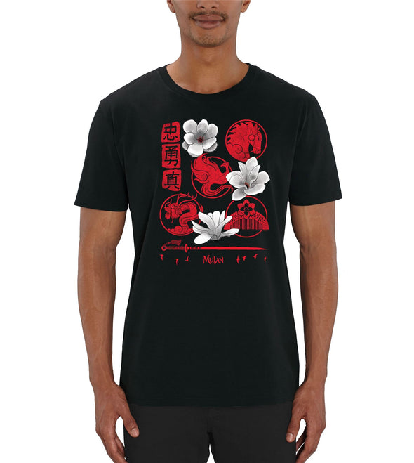 Walt Disney's Mulan Icon Print Men's T-Shirt