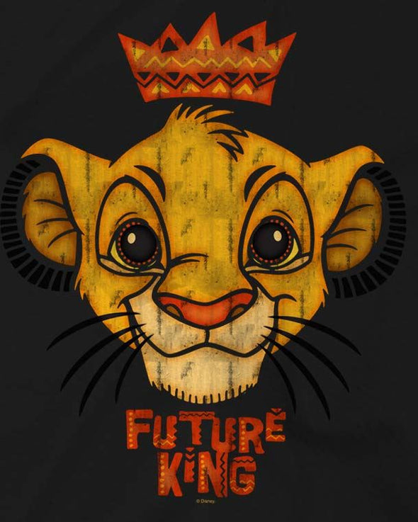 The Lion King Future King Children's Unisex Black T-Shirt