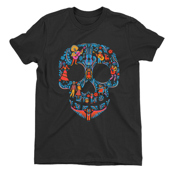 Disney Pixar Coco Skull Children's Unisex Black T-Shirt