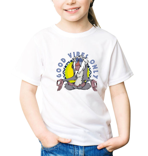 The Lion King Rafiki Good Vibes Only Children's Unisex White T-Shirt