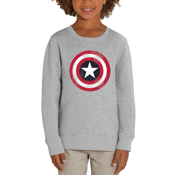 Marvel Captain America Shield Children's Unisex Grey Sweatshirt