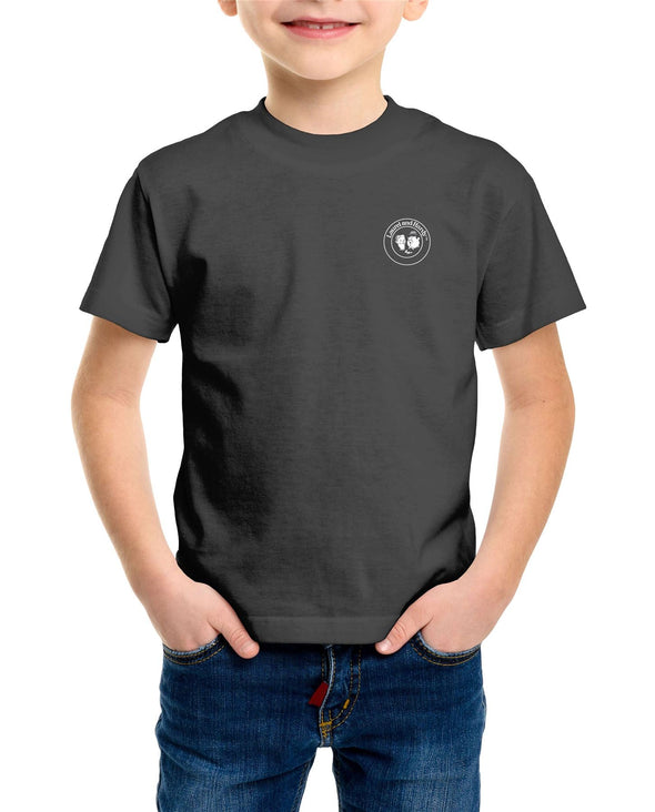 Laurel & Hardy Classic Stamp Children's Unisex Charcoal T-Shirt