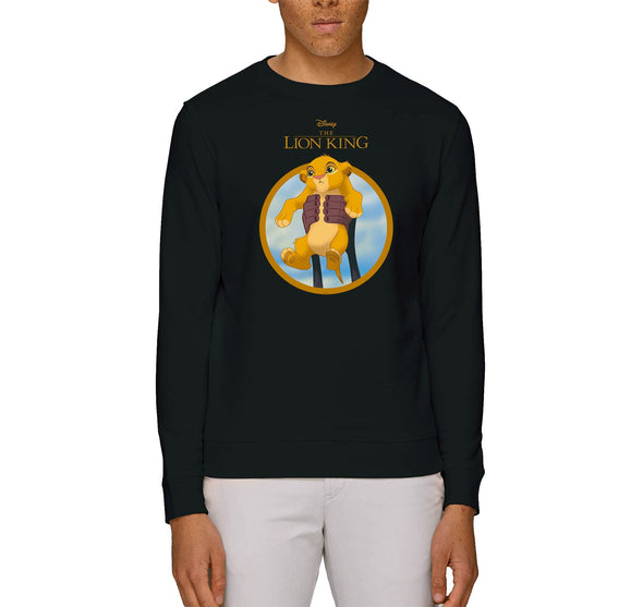 The Lion King Simba Show Adults Unisex Black Sweatshirt