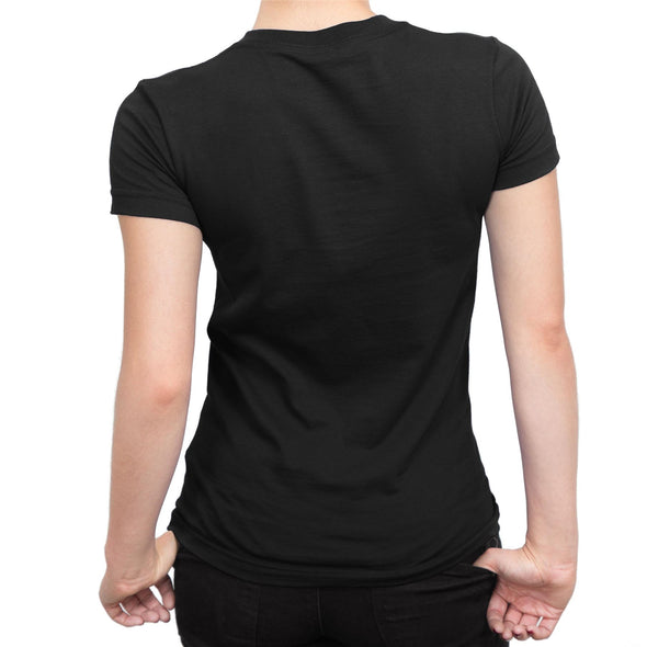 Laurel & Hardy Park Bench Ladies Black T-Shirt