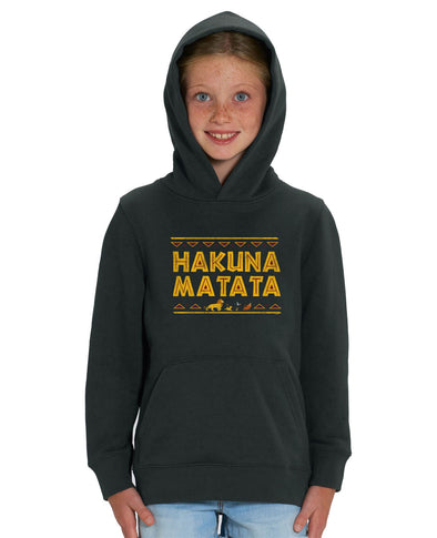 Hakuna Matata Children's Unisex Black Lion King Hoodie
