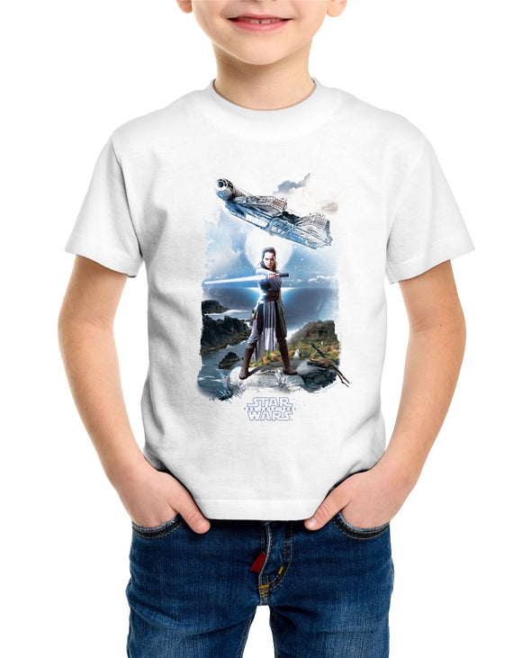Star Wars Rey Falcon Children's Unisex White T-Shirt