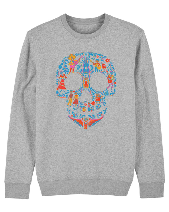 Disney Pixar Coco Skull Adults Unisex Grey Sweatshirt