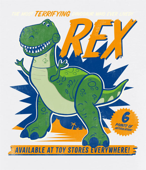 Disney Toy Story 4 The Most Terrifying Rex Ladies White T-Shirt