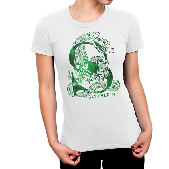 Harry Potter Slytherin Snake White Ladies T-Shirt