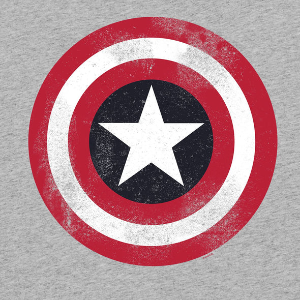 Marvel Captain America Shield Adults Unisex Grey Sweatshirt