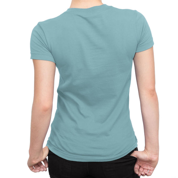 Dumbo Oh Happy Days Ladies Light Blue T-Shirt