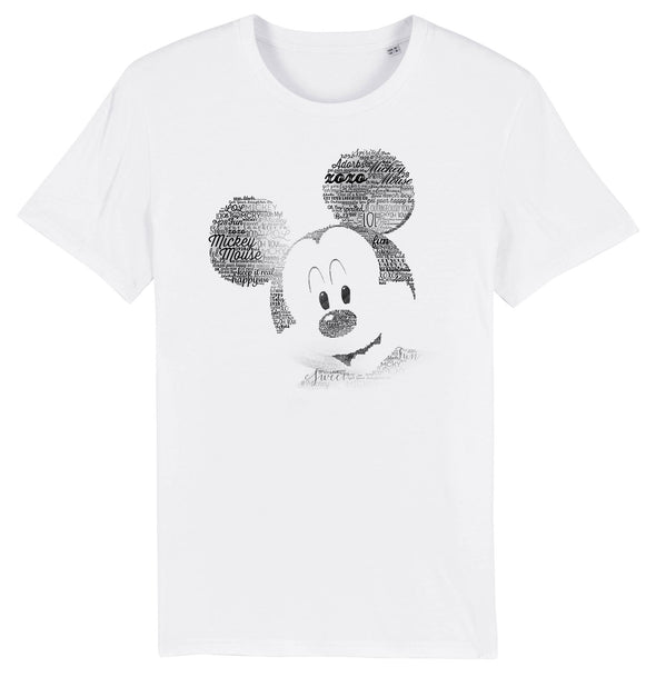Mickey Mouse Sketch Men's White T-Shirt