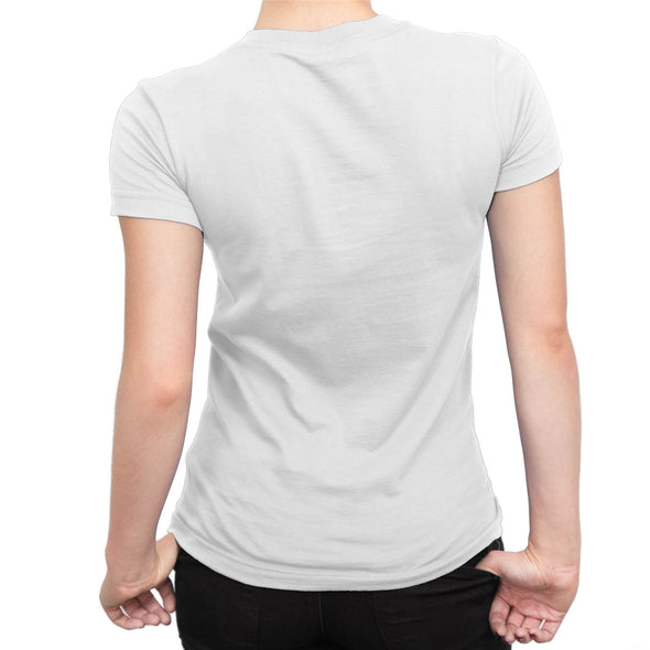 Captain Marvel Classic Logo's Ladies White T-Shirt