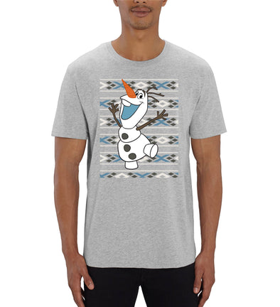Frozen Christmas Olaf Men's Grey T-Shirt