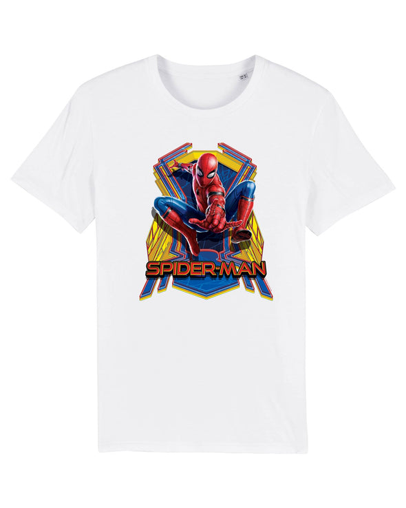 Marvel Spider-Man Far From Home Jump Ladies White T-Shirt