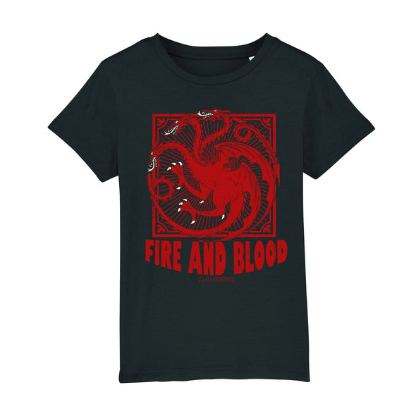 Game Of Thrones Fire & Blood Ladies Black T-Shirt