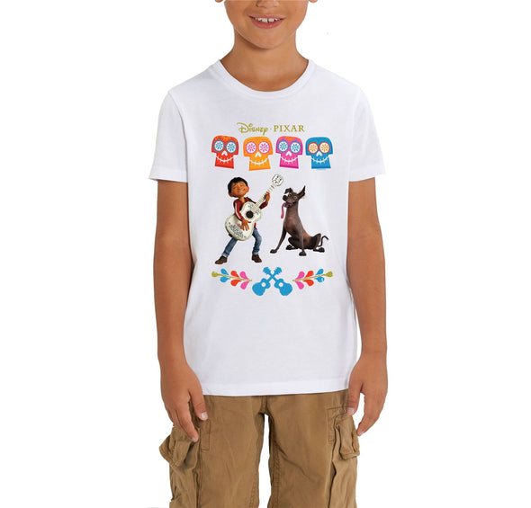 Disney Pixar Coco Miguel Children's Unisex White T-Shirt