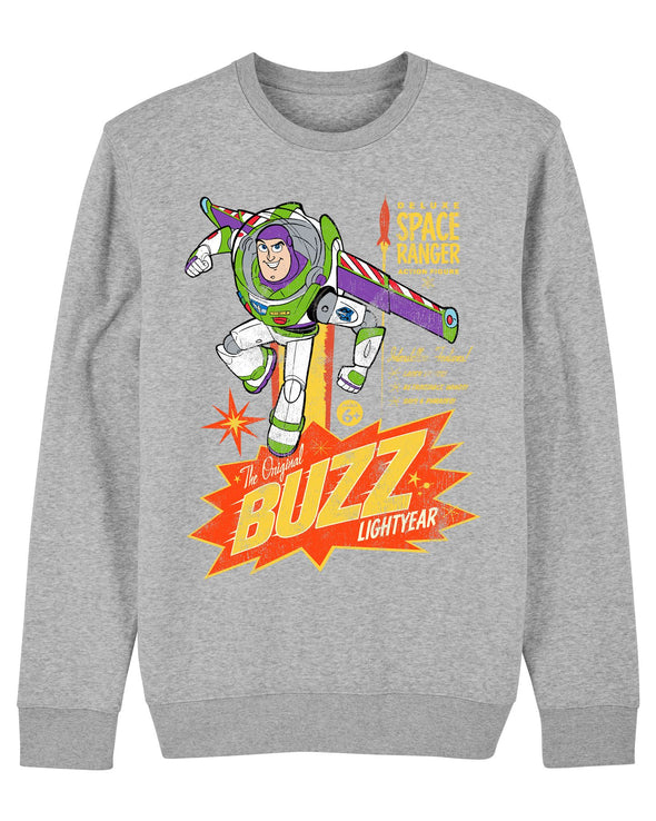 Disney Toy Story 4 Retro Buzz Lightyear Adults Unisex Grey Sweatshirt