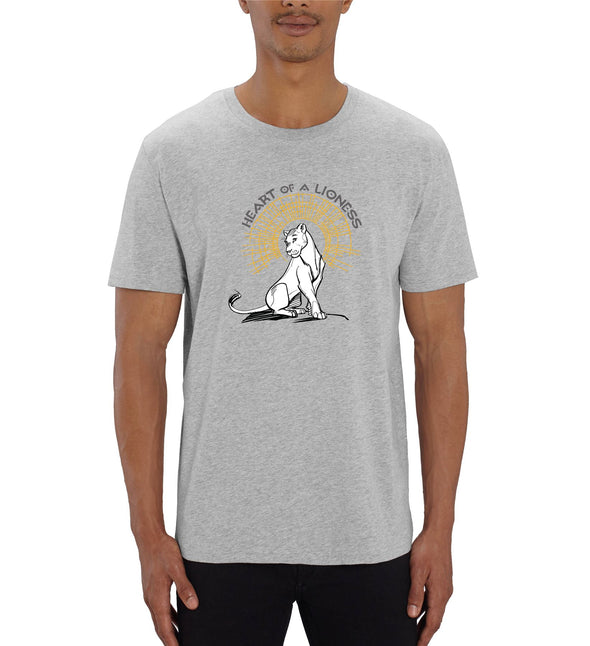 Heart of a Lioness Men's Grey Lion King T-Shirt