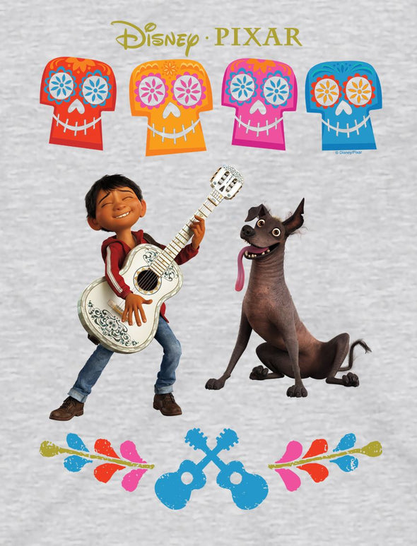 Disney Pixar Coco Miguel Children's Unisex Grey T-Shirt