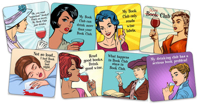 Pop Art Coasters: Book Club