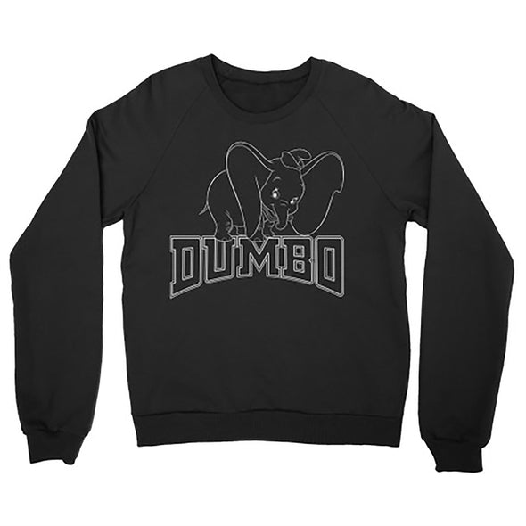 Dumbo Collegiate Adults Unisex Black Sweatshirt