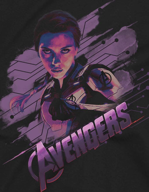 Avengers Endgame Black Widow Children's Unisex Black T-Shirt