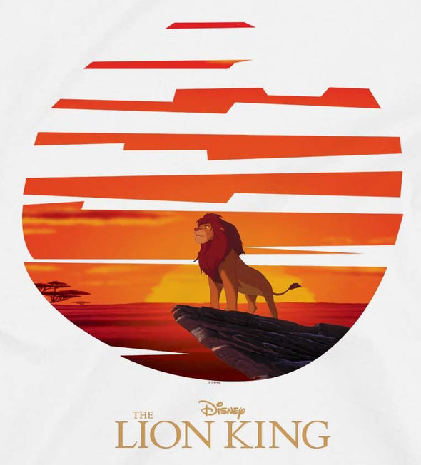 The Lion King Mufasa Sunset Ladies White T-Shirt