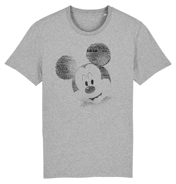 Mickey Mouse Sketch Ladies Grey T-Shirt