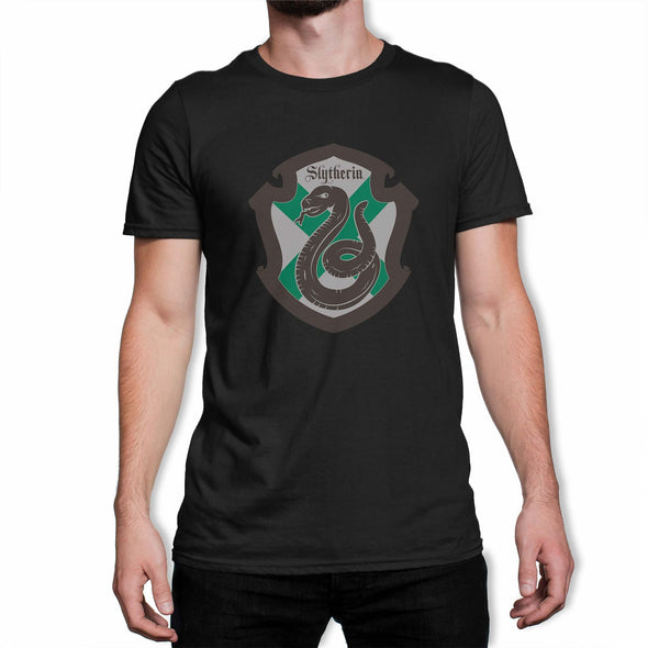 Harry Potter Slytherin Shield Men's Black T-Shirt
