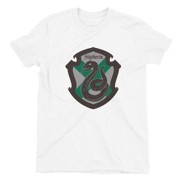 Harry Potter Slytherin Shield Ladies White T-Shirt