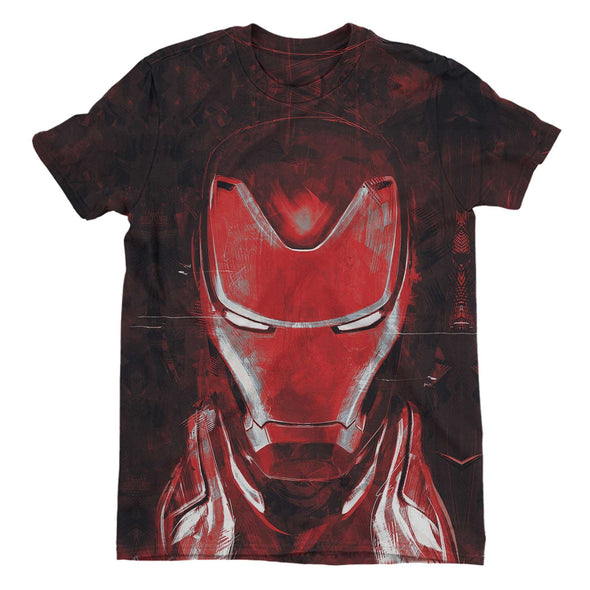 Avengers Endgame Iron Man Ladies Red Sublimation T-Shirt