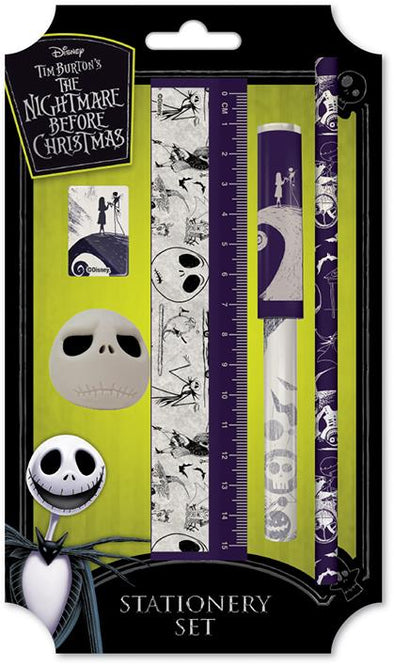 Nightmare Before Christmas Stationery Set | Includes Ruler, Pen, Pencil, Sharpener and Rubber