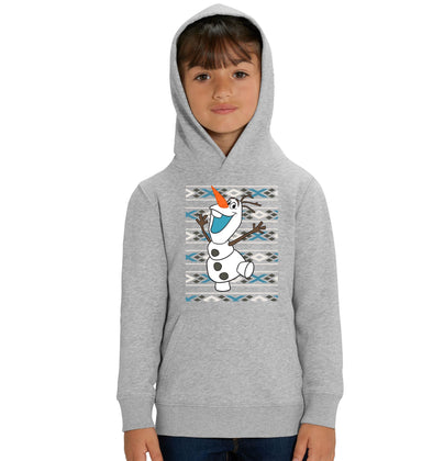 Disney Frozen Christmas Olaf Children's Unisex Grey Hoodie