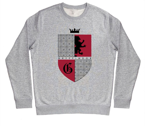 Harry Potter Gryffindor Red & Black Crest Children's Unisex Grey Sweatshirt