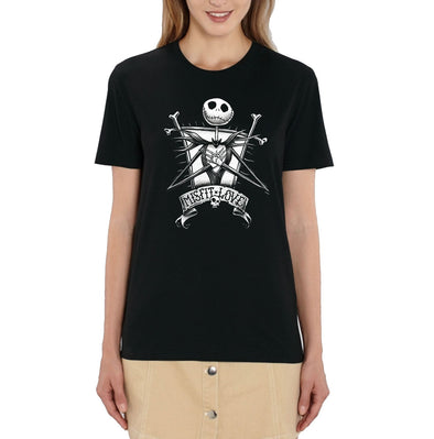 Nightmare Before Christmas Misfit Love Ladies Black T-Shirt