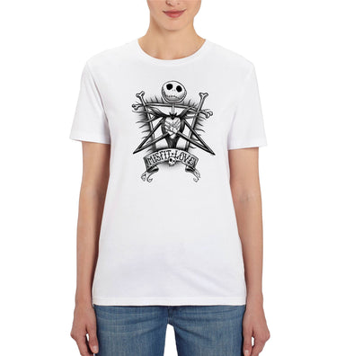 Nightmare Before Christmas Misfit Love Ladies White T-Shirt