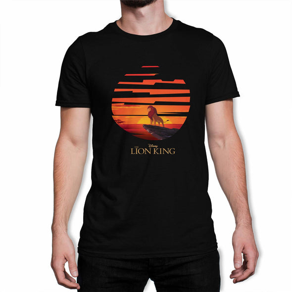The Lion King Mufasa Sunset Men's Black T-Shirt