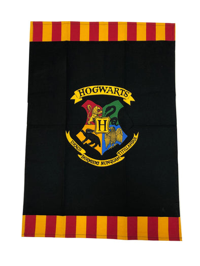 Harry Potter Hogwarts Crest Black Tea Towel