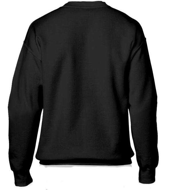 The Flash Emblem Outline Adults Unisex Black Sweatshirt
