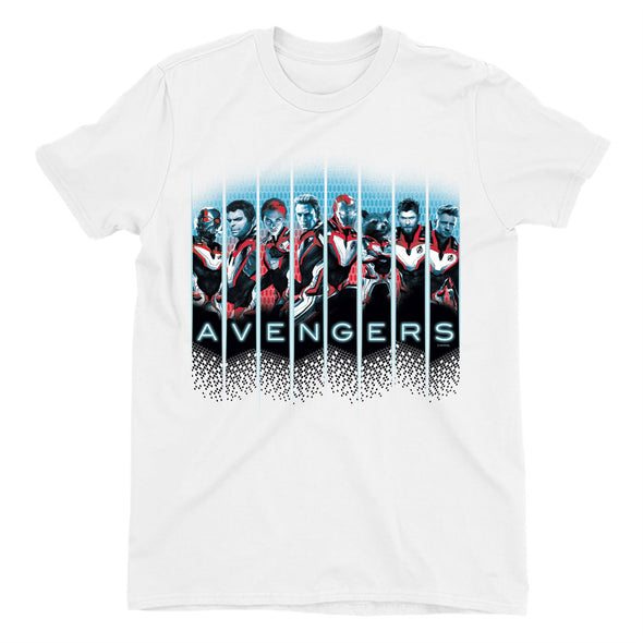 Avengers Endgame Character Line Up Children's Unisex White T-Shirt