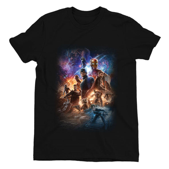Avengers Endgame Team Poster Ladies Black T-Shirt