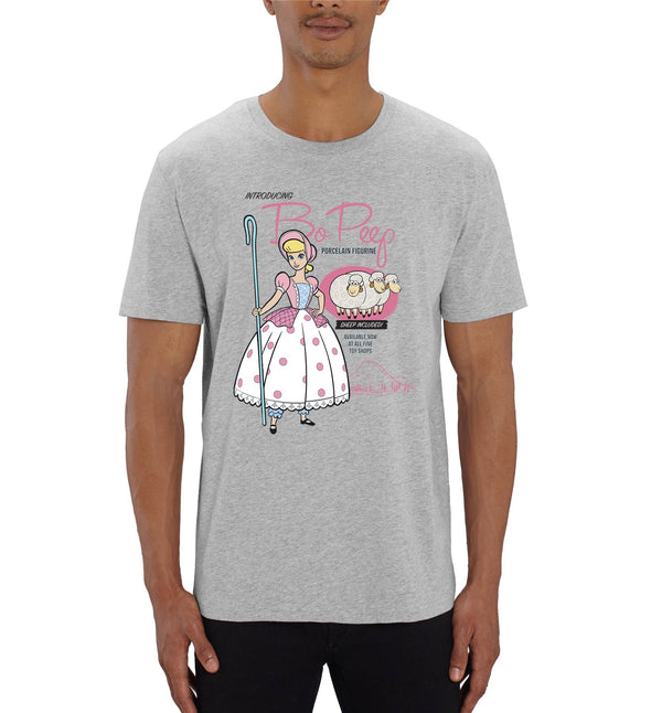 Disney Toy Story 4 Bo Peep Men's Grey T-Shirt