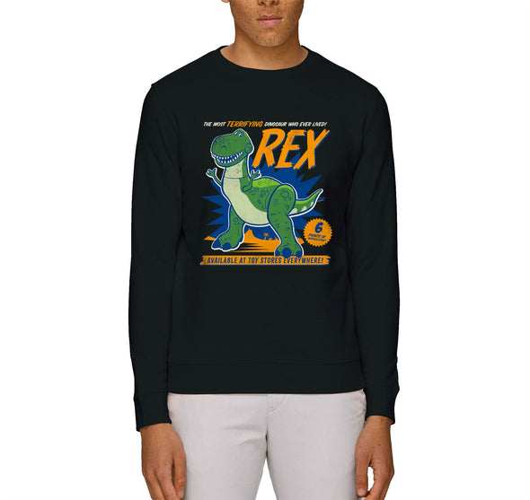 Disney Toy Story 4 The Most Terrifying Rex Adults Unisex Black Sweatshirt